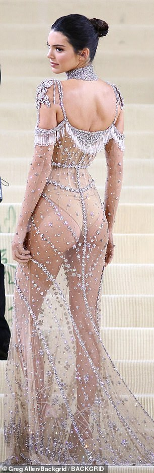 Peachy: Kendall showed off her peachy derriere