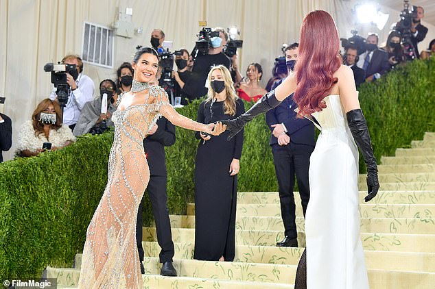 Best friends: Kendall and fellow model Gigi put on a sweet display