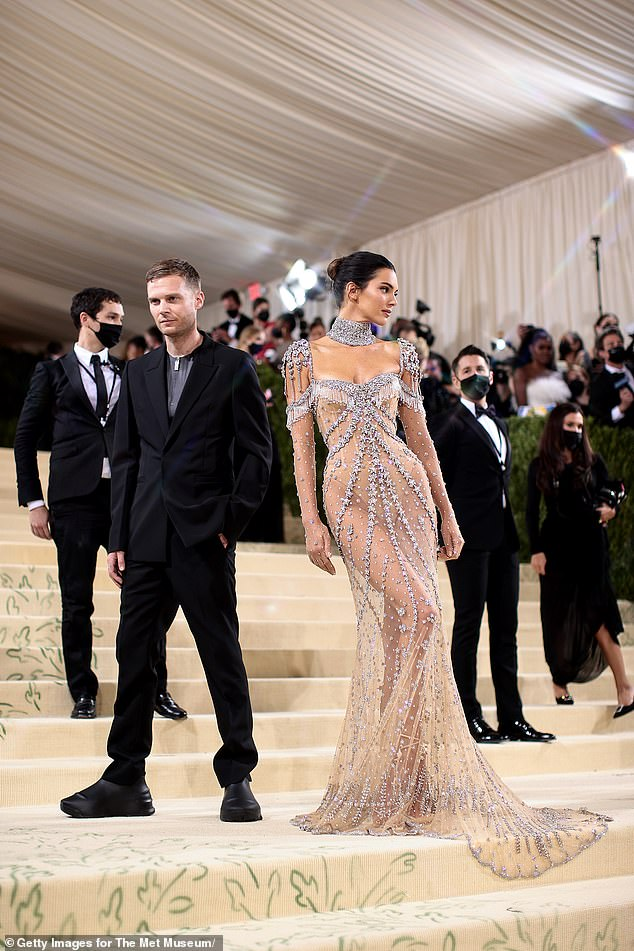 Stand-out: Kendall wore one of the night's stand-out looks