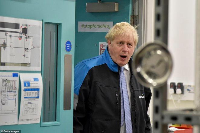 Boris Johnson (pictured on a visit to Leicester yesterday) is set to flesh out his strategy in a press conference this afternoon, after Health Secretary Sajid Javid has given the outline to MPs in a statement