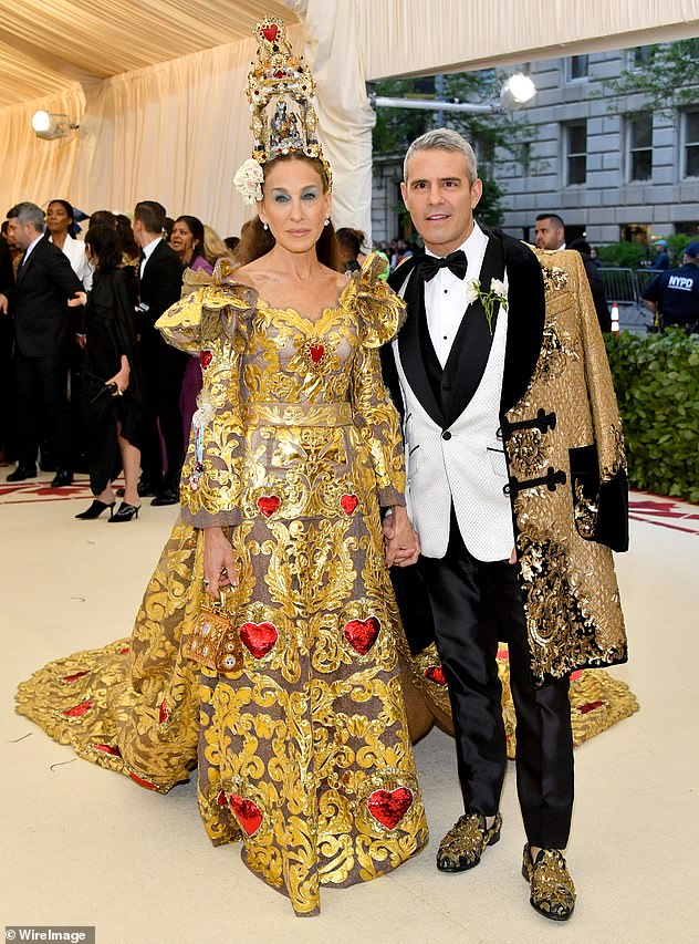 Stepped out: Sarah Jessica Parker is busy filming, and her frequent date Andy Cohen said he's sitting this one out, too (pictured in 2018)