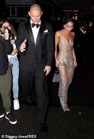Arrival: The pair were first seen rolling up to the event together in a black SUV, before splitting up to take on the red carpet
