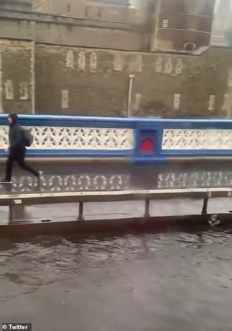 Tower Bridge road is flooded