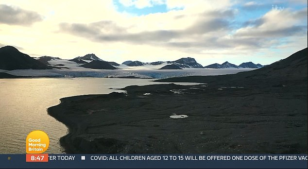 Svalbard is an archipelago located between Norway and the North Pole, known for its glaciers and rugged landscape.