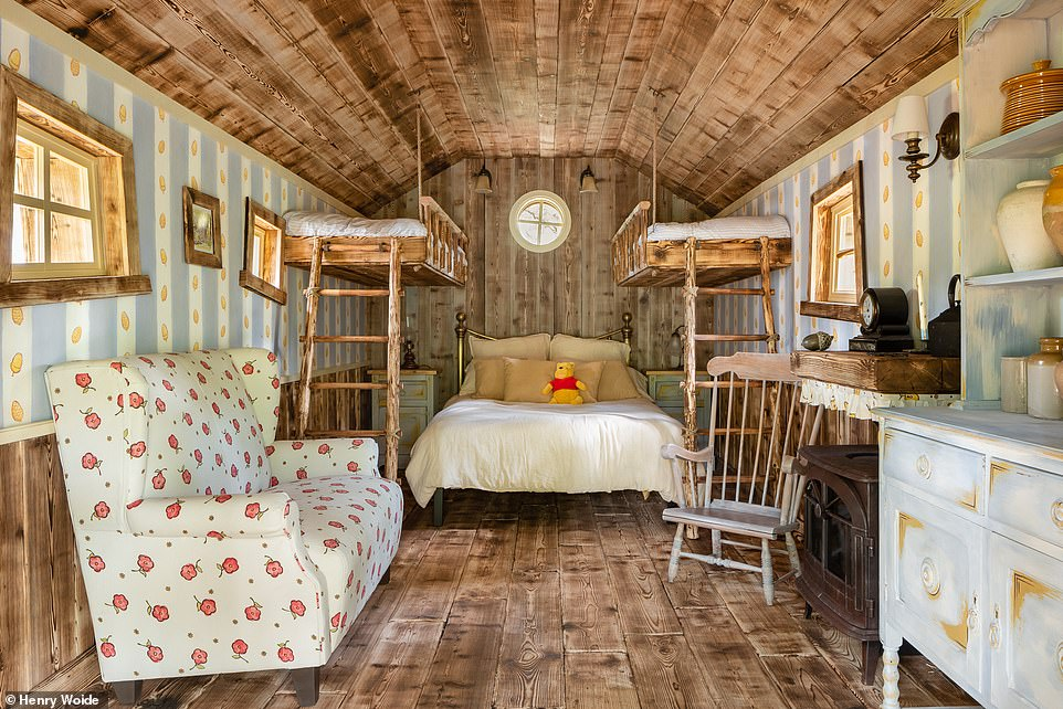 Kim drew inspiration from the original book illustrations of E.H. Shepard when it came to designing the treehouse