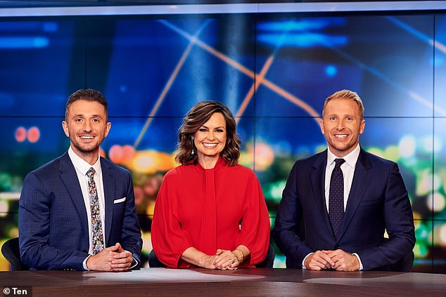 Back on air:Hamish returned o The Project in August after his abrupt departure from ABC's Q+A. Pictured with Lisa Wilkinson and Tommy Little