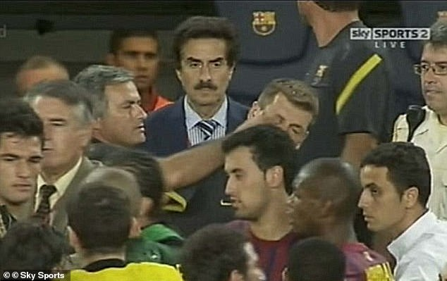 Mourinho caused uproar in the Spanish game when he poked Tito Vilanova in the eye