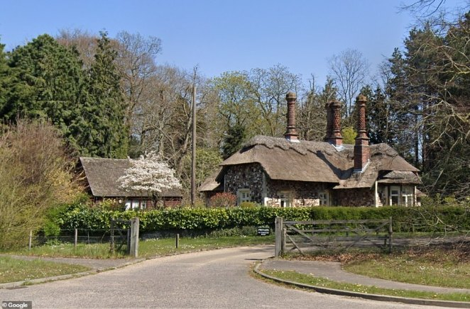 Sir Timothy died at his home at Bixley Manor near Norwich. The 'South Lodge' of the estate is pictured above from the road