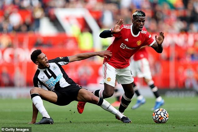 Pogba play more passes into the final third than any other midfielder has managed this term