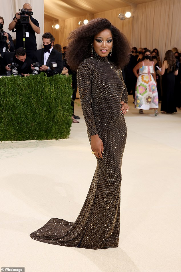 Effortless style: Keke wowed as she walked the Met Gala as she hosted the event on Monday