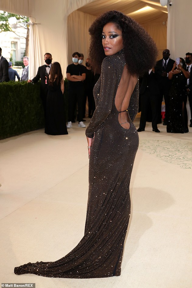 Turning heads: While preparing to host the only livestream of the event for Vogue with Ilana Glazer on Monday night, the 28-year-old star looked incredible in her sequined gown, with a sexy backless design