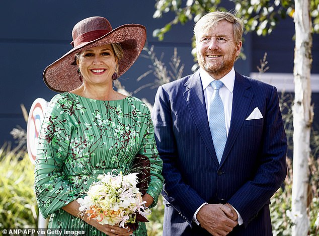 The royal, 50, cemented her style credentials in an elegant emerald gown with trendy crimped detailing