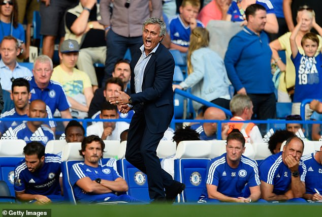 But after seeing his medical team rush on to the pitch, Mourinho is left furious with his staff