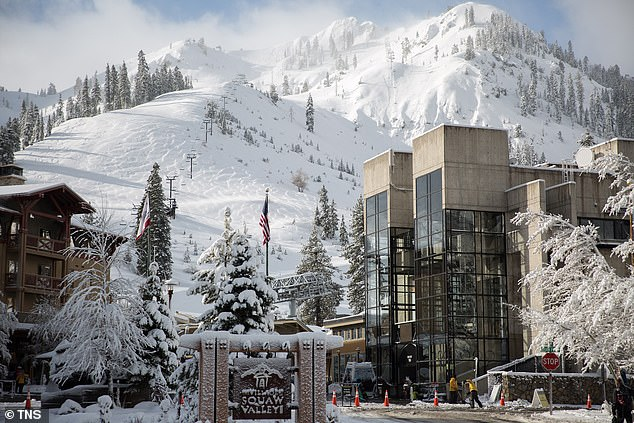 The resort in Olympic Valley, California has 6,000 skiable acres on two mountains and sees about 400 inches of snow every year, according to its website
