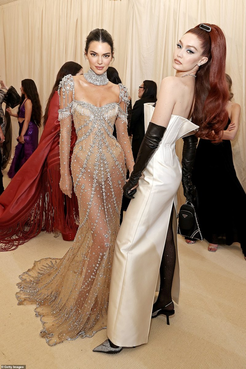 At the top of their game: They both looked ravishing in their fancy gowns with heavy makeup on for the biggest night in fashion in NYC