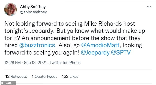Fans took to Twitter to share their displeasure with the airing of Richards recorded shows