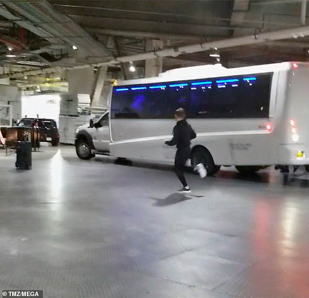 Video: A video of Conor and his crew attacking a bus carrying his rival Khabib Nurmagomedov previously went viral (pictured)
