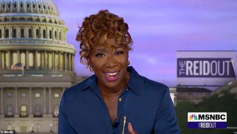 Joy Reid, 52, called out Minaj on her show The ReidOut Monday for using her platform 'to encourage our community to not protect themselves and save their lives'