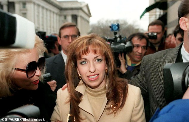 Paula Jones, above in 1998, sued President Bill Clinton in 1994 for allegedly exposing himself to her at a hotel room during a conference while he was governor of Arkansas in 1991