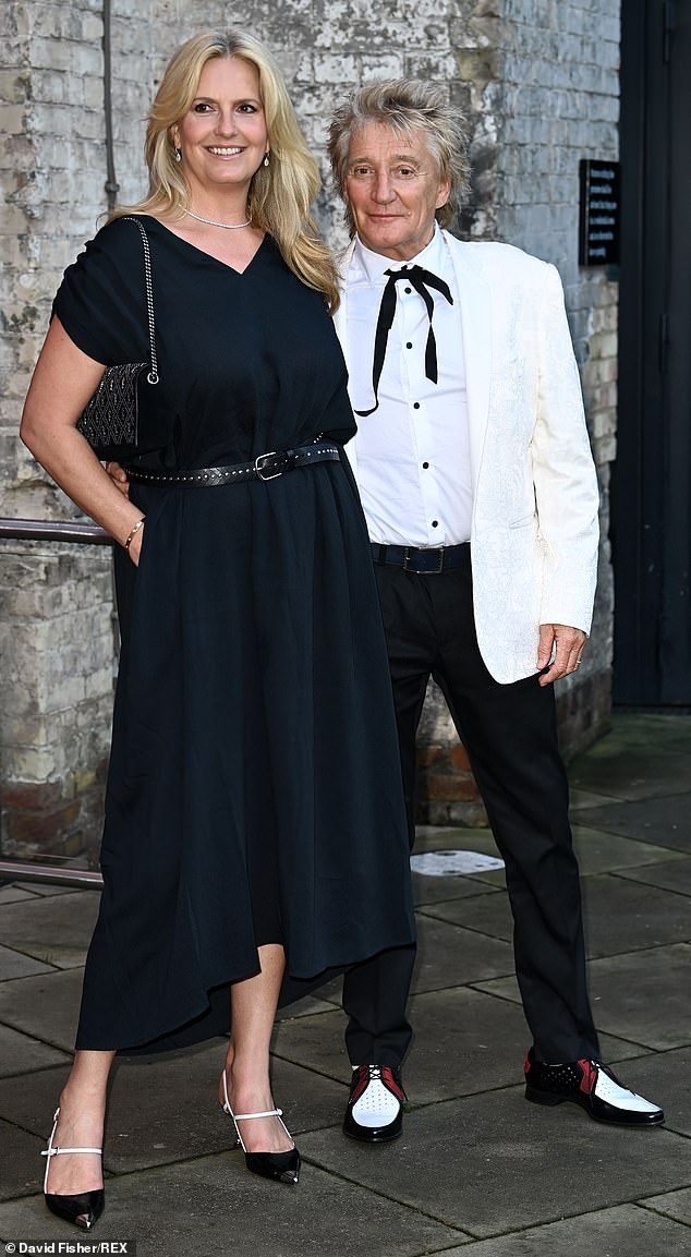 Loving life:The couple seemed in great spirits as they hit the red carpet at the Camden Roundhouse in London, with Rod giving his other half a twirl