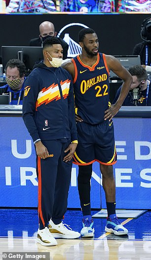 Now-former Warriors teammates Kent Bazemore (left) and Andrew Wiggins (right) have both said they will not get vaccinated