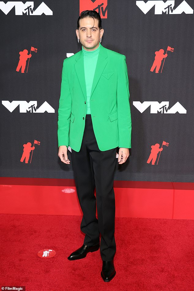 In trouble:G-Eazy was reportedly arrested on Monday for an assault incident that took place in New York City last week. Seen on Sunday at the MTV VMAs