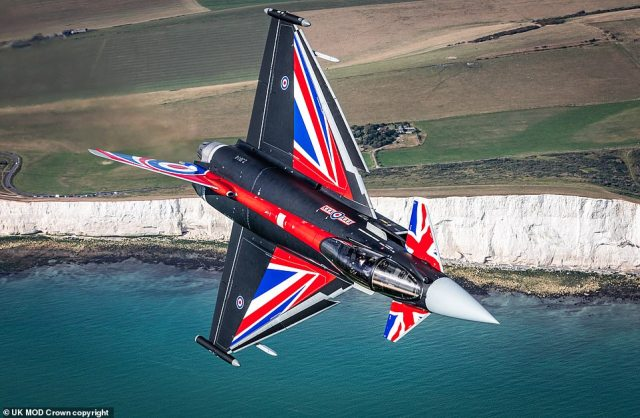 The aircraft put on an impressive display for anyone on the ground who may have been lucky enough to watch