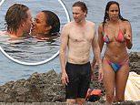Shirtless Tom Hiddleston packs on the PDA with bikini-clad girlfriend Zawe Ashton