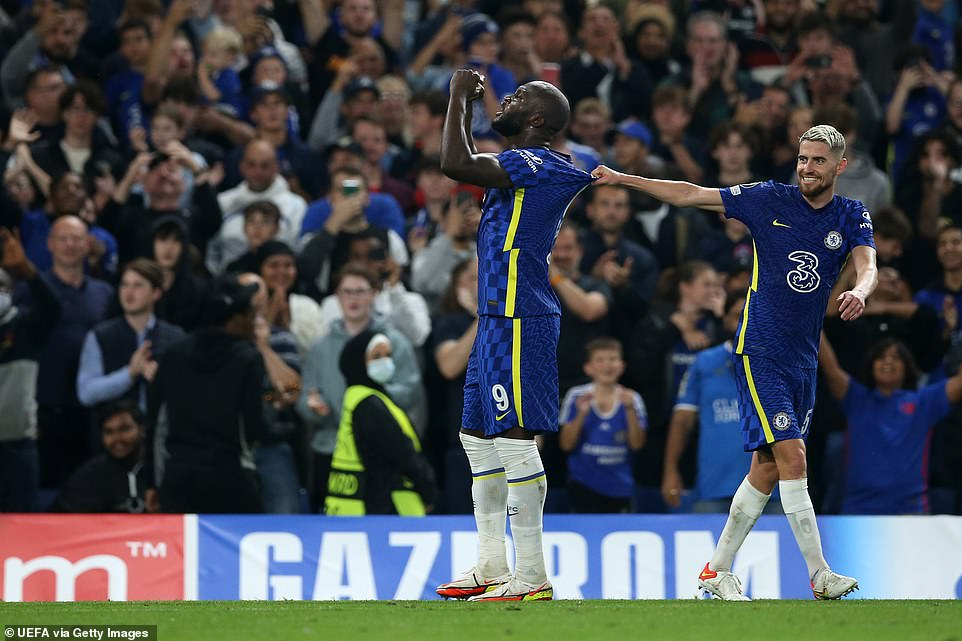 Lukaku looked elated as he celebrated what turned out to be the game-winner in front of delighted Chelsea fans