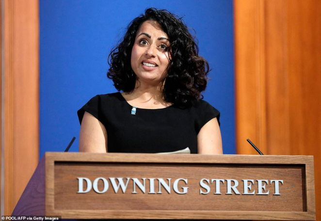 The Prime Minister said he would rather listen to NHS England's top GP Nikki Kanani (above)