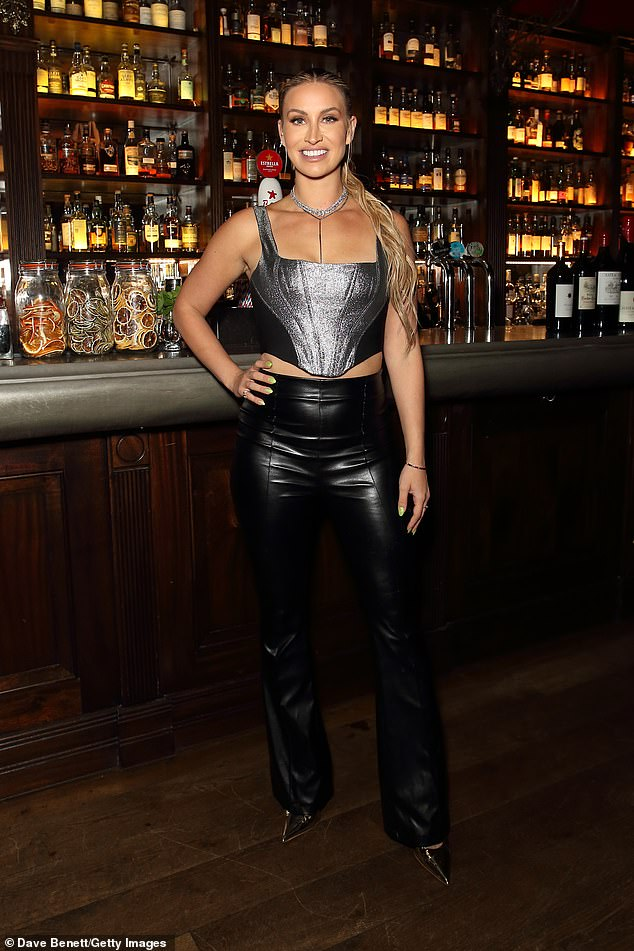 Giving up alcohol:Ferne McCann didn't let temptation get in the way of her attending the Boisdale Music Awards in Canary Wharf on Tuesday