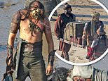 House of Dragon: Actors don armour and masks as they film tense beach scene