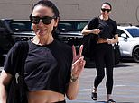 Mel C lives up to her Sporty Spice nickname as she arrives at Dancing With The Stars rehearsal