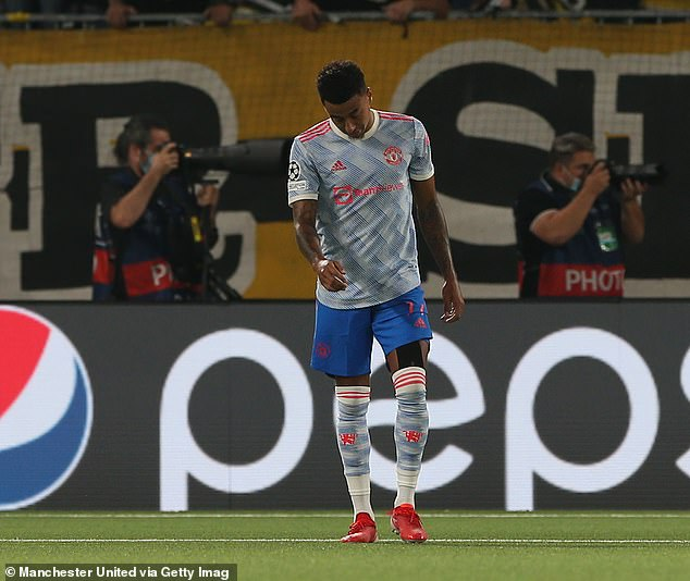 Jesse Lingard's (above) poor backpass gifted the Young Boys a 95-minute winner Tuesday night