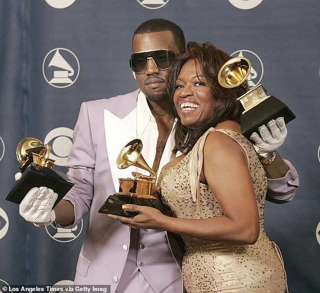 Homage:Donda, which is West's 10th studio album, serves as an homage to his late mother Donda West, who tragically passed away in 2007, and consists of 27 songs; Kanye and Donda pictured in 2006