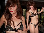 Helena Christensen, 52, showcases her incredible figure in black lingerie for sizzling photoshoot