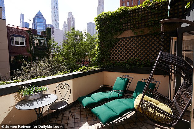 Amenities: The 4,650-square-foot Lenox Hill townhouse was built in 1899 and features an elevator, sauna, library, at-home gym, and a peaceful outdoor space which adds additional square footage