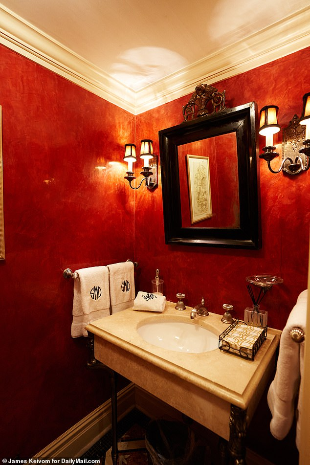 Personal touches: Sonja's five and a half bathrooms are all outfitted with monogrammed towels