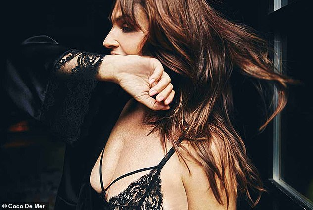 Photoshoot: The star's brunette tresses where styled into loose waves
