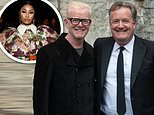 Piers Morgan and Chris Evans appear in a jovial mood as they lark about at the Who Cares Wins Awards