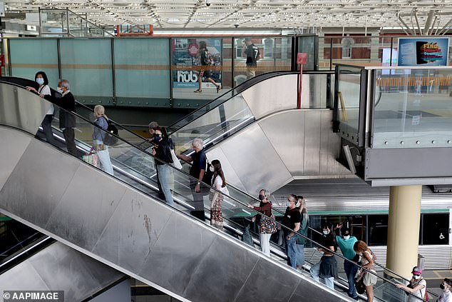 Damien now faces being slapped with a $12,000 fine or 12 months in jail, the maximum trespass penalty handed down under the Criminal Code (pictured, Perth Central station)