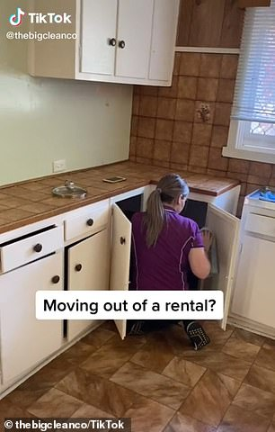 Professional cleaner Kaycie (pictured) has offered the ultimate end-of-lease cleaning guide to ensure tenants get their bond back after moving out of a rental home