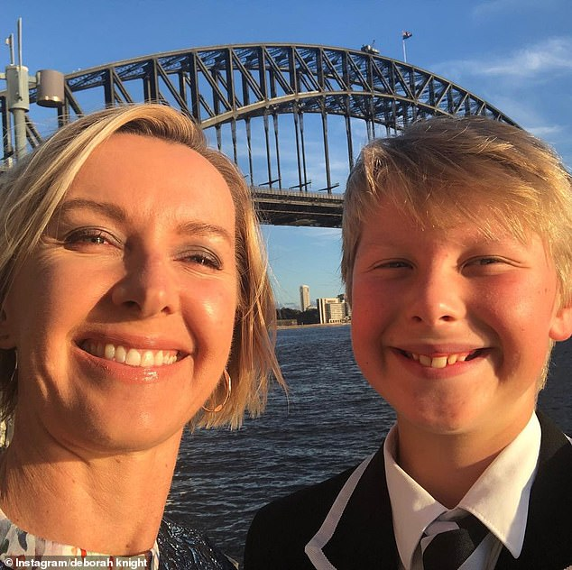 Proud: 'Mr Darcy first dose down,' the A Current Affair presenter proudly wrote in the caption of her Instagram post, along with #getvaccinated. Pictured is Deborah with Darcy