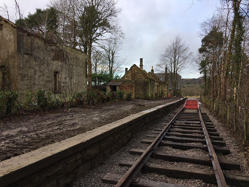 This picture shows Bassenthwaite Lake Station part-way through its transformation by Di and Simon