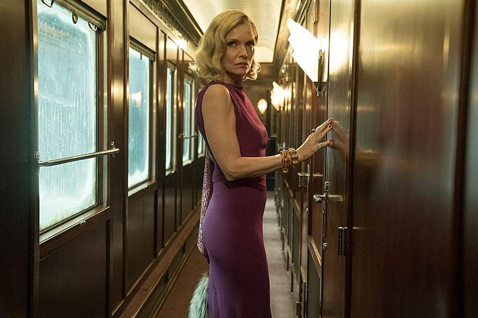 Michelle Pfeiffer asLinda Arden in Murder on the Orient Express