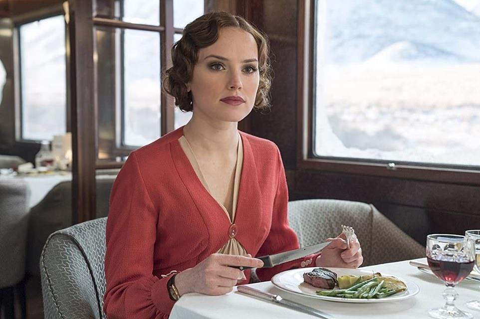 In a railway carriage far, far away... Star Wars star Daisy Ridley was in the stellar Murder on the Orient Express cast