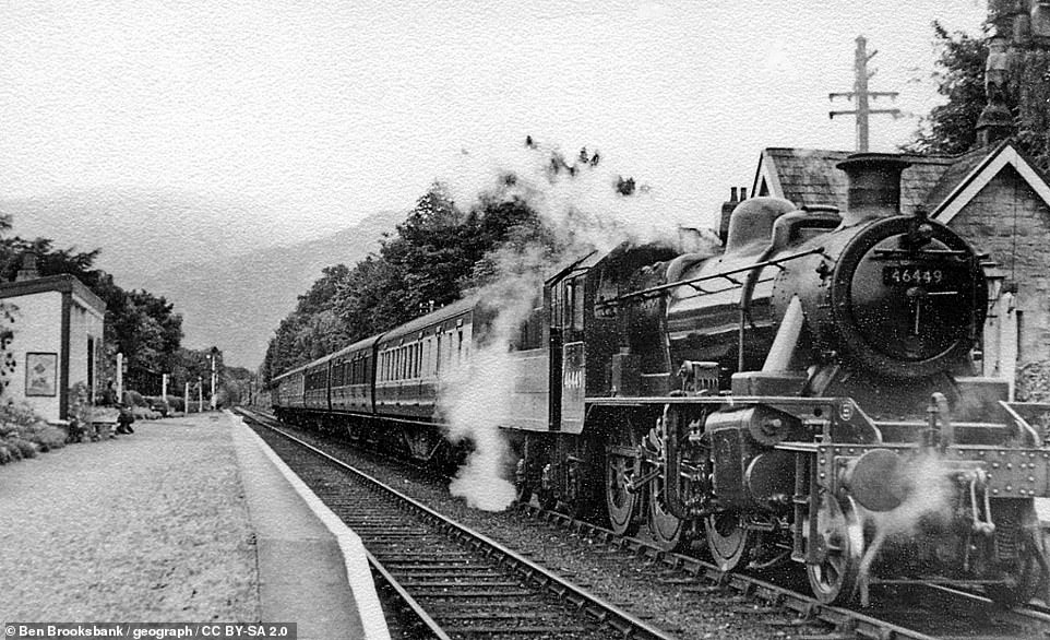This vintage image shows a steam train atBassenthwaite Station in 1951. This picture is courtesy of Creative Commons licensing