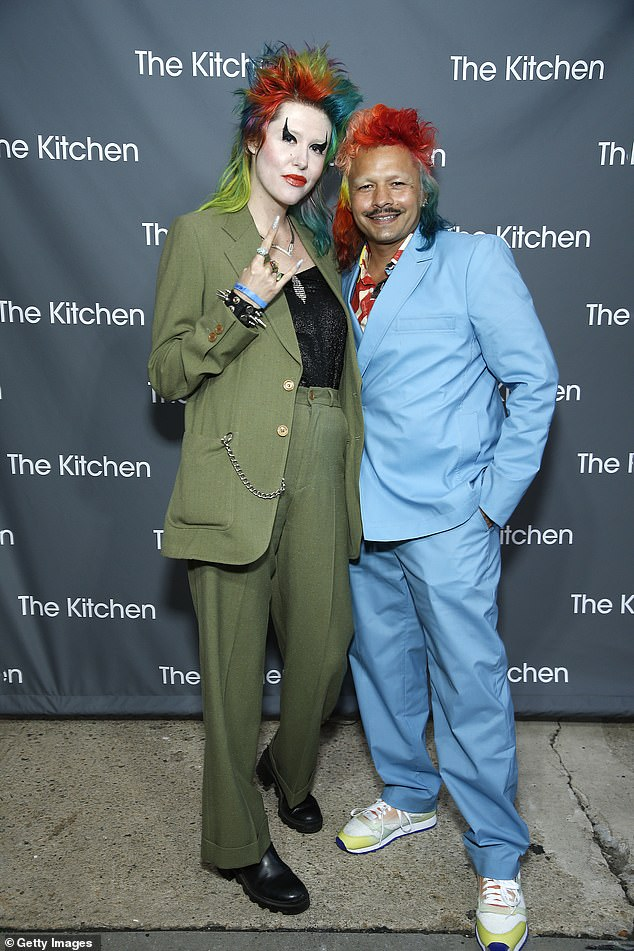 Danny and Danny: Danny Miller and Danny Moon rock colorful ensembles while attending The Kitchen Gala on Tuesday