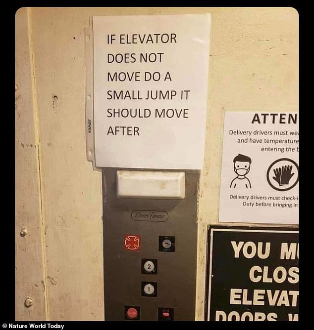 Safety not first! It's no surprise if employees are reluctant to use the elevator at this company in the US