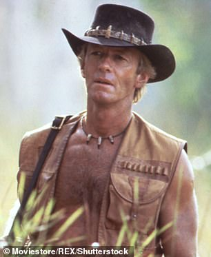 Here it is: Paul Hogan as Mick 'Crocodile' Dundee in the 1986 film